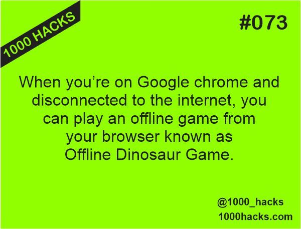 Play Offline Dinosaur Game From Google Chrome When You Re Offline