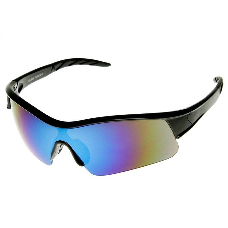 X Hunter Brand Semi Rimless Flash Mirror Lens Sports Sunglasses