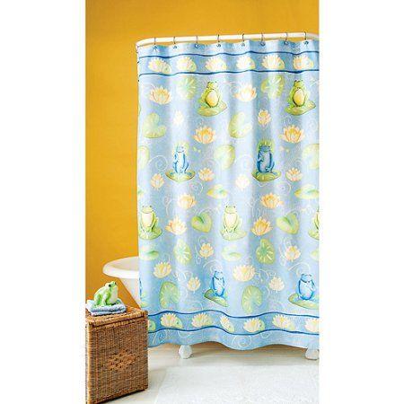 Hometrends Fun Frog Shower Curtain 1 Each Green Diy Shower