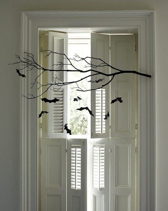 best 25 halloween window ideas only on pinterest halloween window decorations halloween window silhouettes and spooky halloween decorations - Cheap Halloween Decorating Ideas