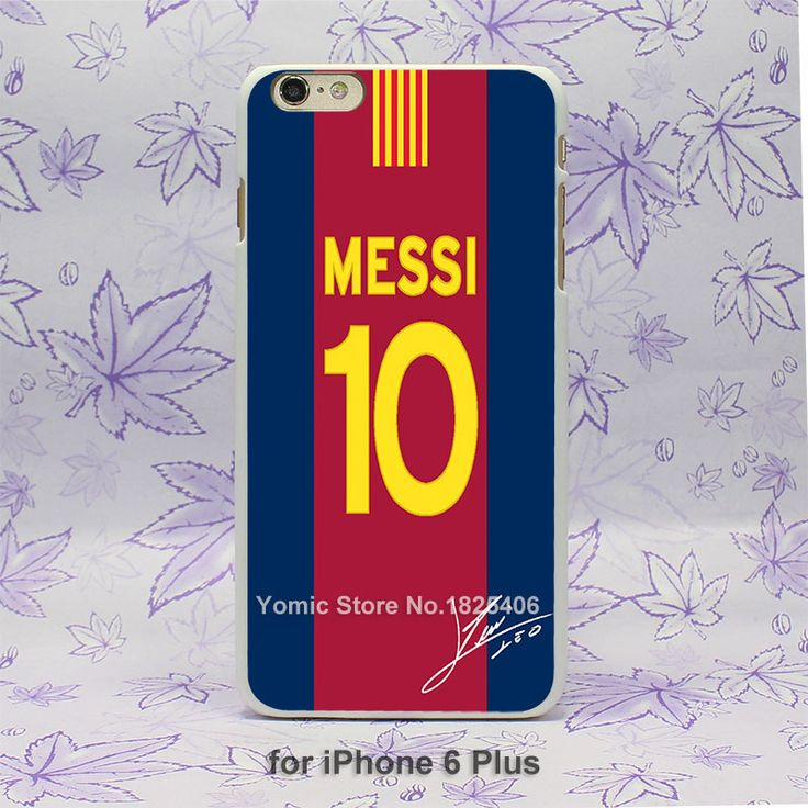 fc messi number 10 Pattern hard White Skin Case Cover for iPhone 4 4s 4g 5 5s 5c 6 6s 6 Plus