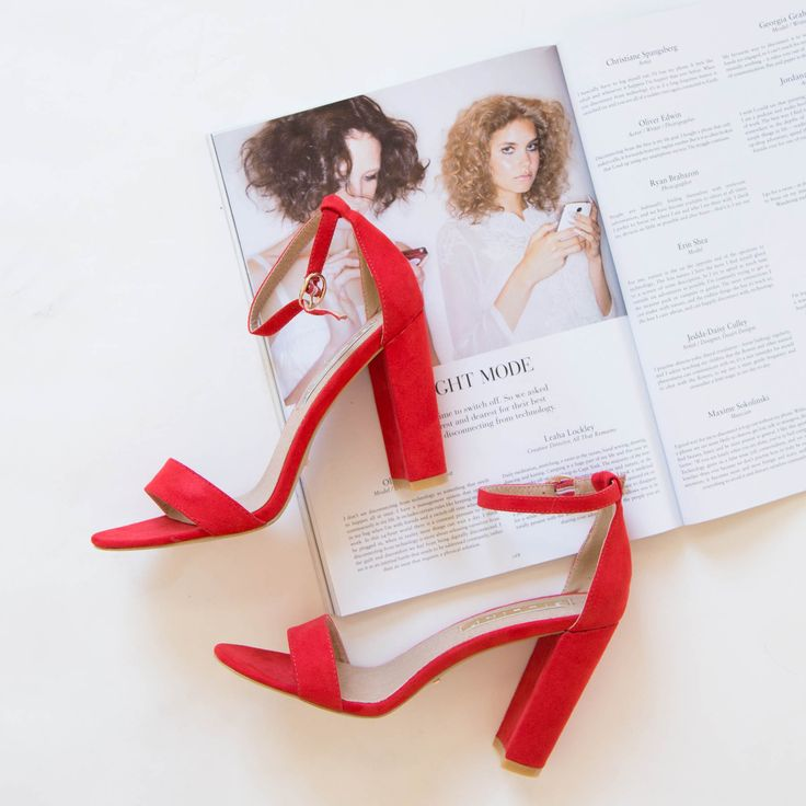 Billini - Jessa Heel - Red Suede