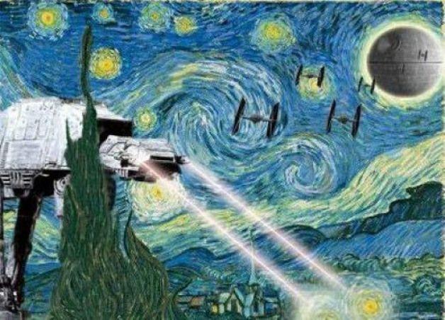Starry Night Parody Star Wars Parody Famous Artart It Things
