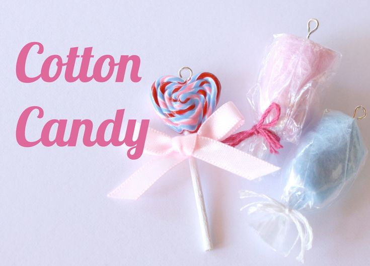 Cotton Candy Charms - Polymer Clay Jewelry (Jewellery) Tutorial (+playlist)