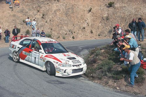 Mitsubishi Lancer Evo 4 of Tommi Makinen at 1997 Tour de Corse