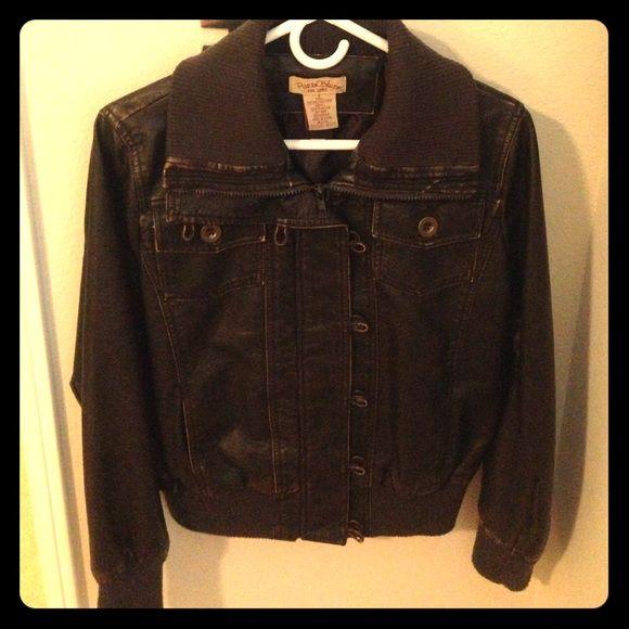Paris Blues Bomber Jacket Brown Bomber Jacket..never worn Paris Blues Jackets & Coats Utility Jackets