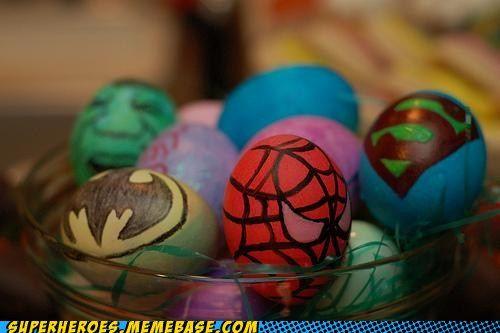 Super Hero decorated eggs