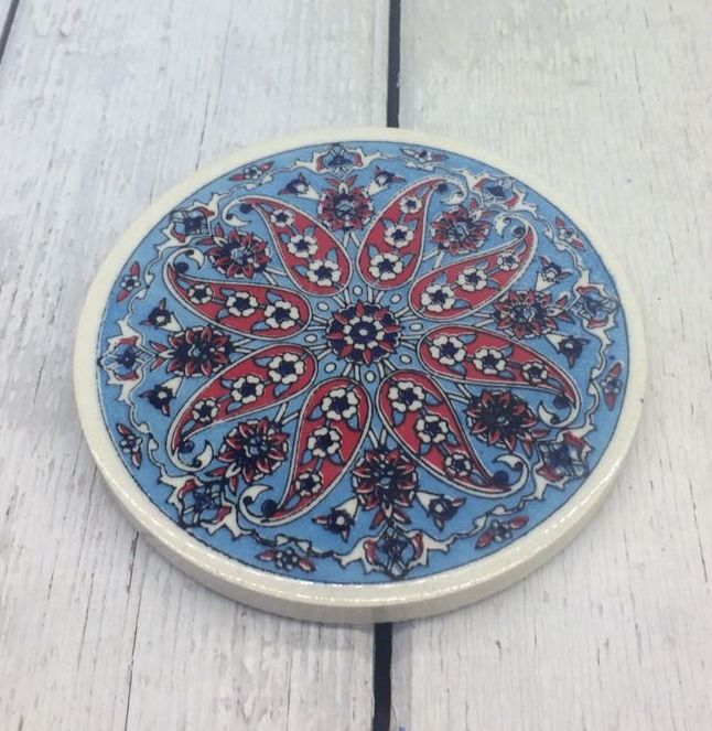 TURKISH CERAMIC COASTER, 0030