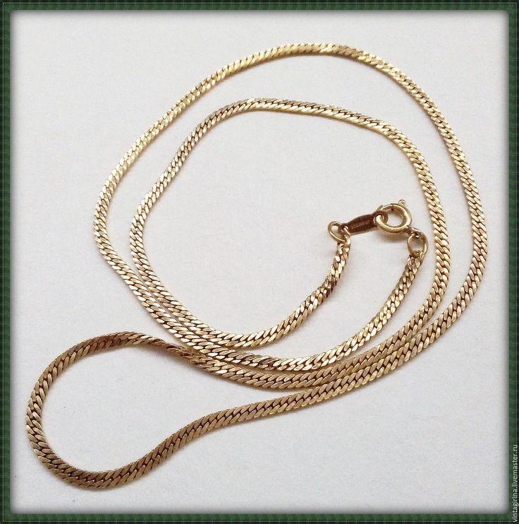 Купить Винтажная цепочка AVON 1/20 14K GF - золотой, винтажная цепочка, золото, винтаж
