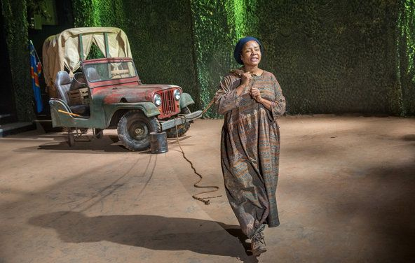 """Tonya Pinkins as the title character in """"Mother Courage and Her Children,"""" at Classic Stage."""