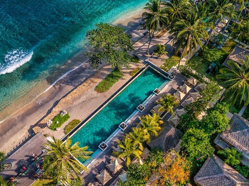 aerial and architectural photography of Qunci Villas in Lombok by LuxViz