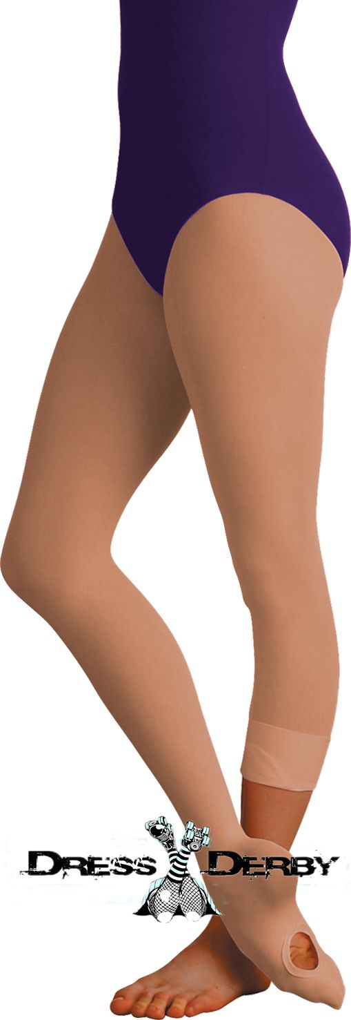 Best nude tights for roller derby! Less rips and tears, convertible foot, made for sports :)