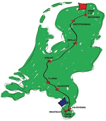 Route for the HomeRide, June 2nd, 2012