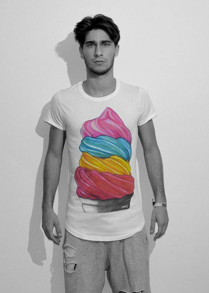 T-shirt ice-cream by updfq brand , made in italy. Only available on our website http://www.updfq.it/prodotto/t-shirt-ice-cream-unisex/