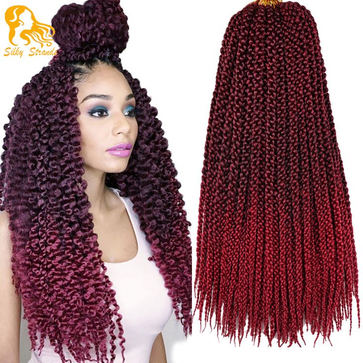 18Inch Crochet Braids Havana Mambo Twist Crochet Senegalese Kinky Twist Hair 100g/Pack 3D Cubic Twist Crochet Hair Braiding