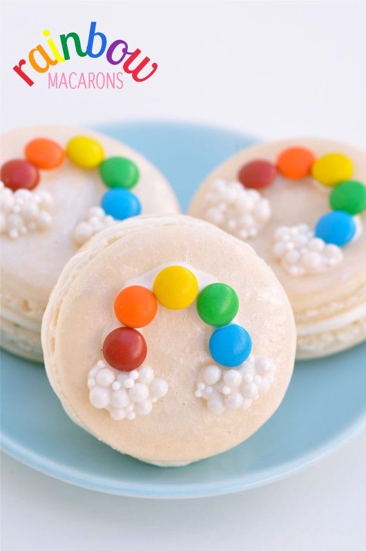 How to Make Rainbow Macarons - Use sprinkles and candy to give traditional macarons a more modern and whimsical look. - From bestfriendsforfrosting.com