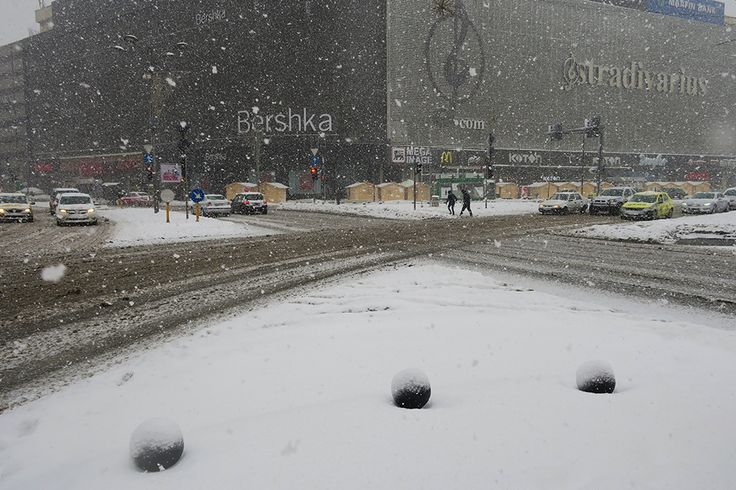 First real Snow in Bucharest   Chique Romania