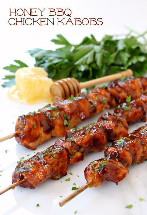 Grill Up These Stick And Sweet Chicken Kabobs For Dinner Tonight Honey Bbq Chicken Honey Bbq