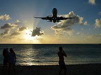 U.S. Airways Boeing 757-200 Series Landing St. Maarten (Martin)