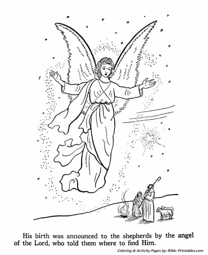 Coloring Pages Christmas Jesus Angel Boy Printable At Yescoloring Advertisement Sheets The Birth Of