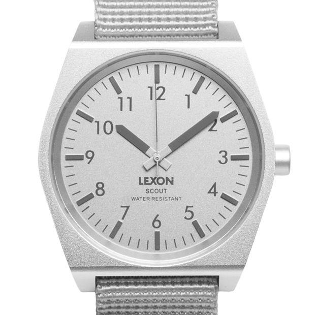 SCOUT (aluminium) watch by Lexon. Available at Dezeen Watch Store: www.dezeenwatchstore.com