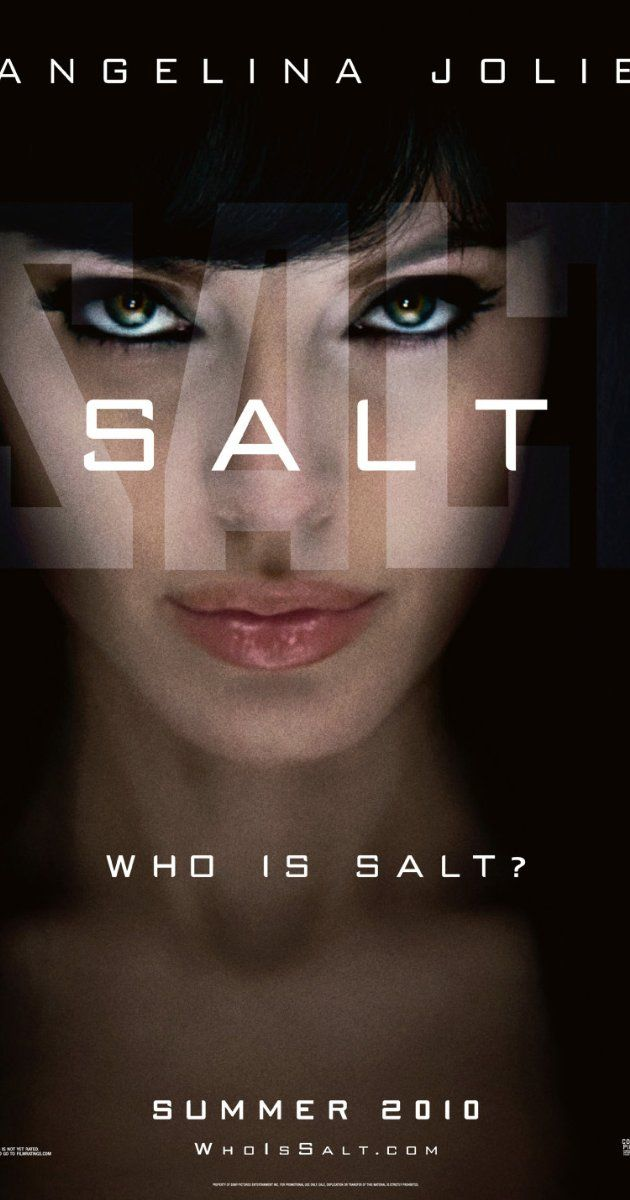 Salt (2010)  Directed by Phillip Noyce.  With Angelina Jolie, Liev Schreiber, Chiwetel Ejiofor, Daniel Olbrychski. A CIA agent goes on the run after a defector accuses her of being a Russian spy.
