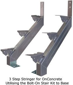 Steel Stairs With Concrete Treads Metal Designs
