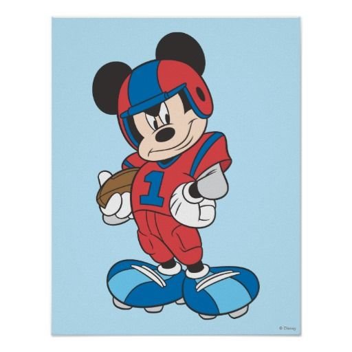 mickey mouse football player 1 posters mickey mickeymouse disney