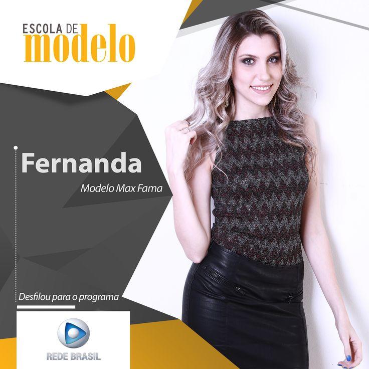 https://flic.kr/p/ZE5mJs | Rede Brasil - Fernanda | O programa A Tarde É Show da Rede Brasil fará um desfile de primavera e essas foram nossas modelos aprovadas. Parabéns meninas!! <3  #escolademodelo #modelo #passarela #teatro #desfile #maxfama #eventodemoda #catwalkbrasil #manequim #fashion #myagency #saopaulo #job #casting #marketing #vidademodelo #tendencia  #televisão #programa