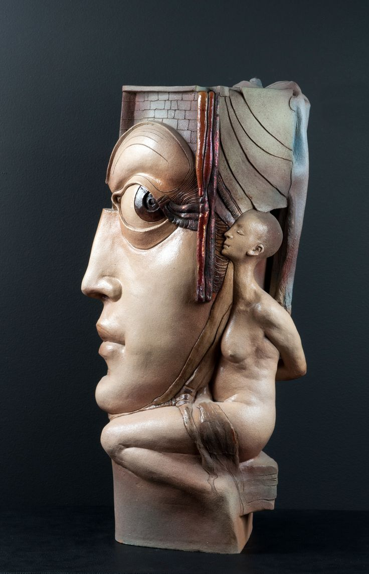 Artist: Mushegh Amirkhanyan Medium: Ceramic Title: David's Temptation Size: 53x27x16cm