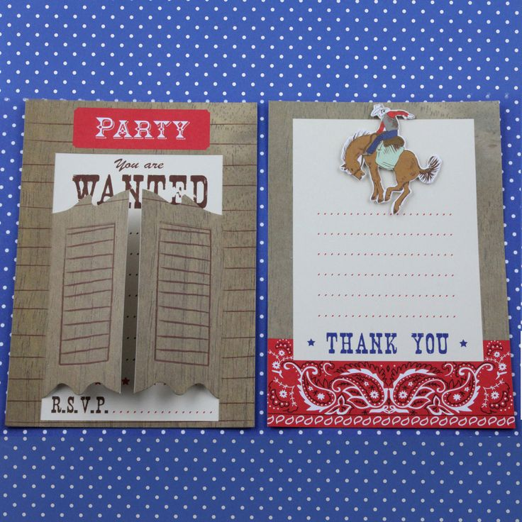 Cowboy Invitations & Thank You Cards