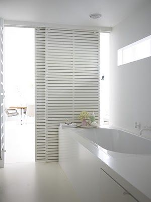 White sliding doors - bathroom