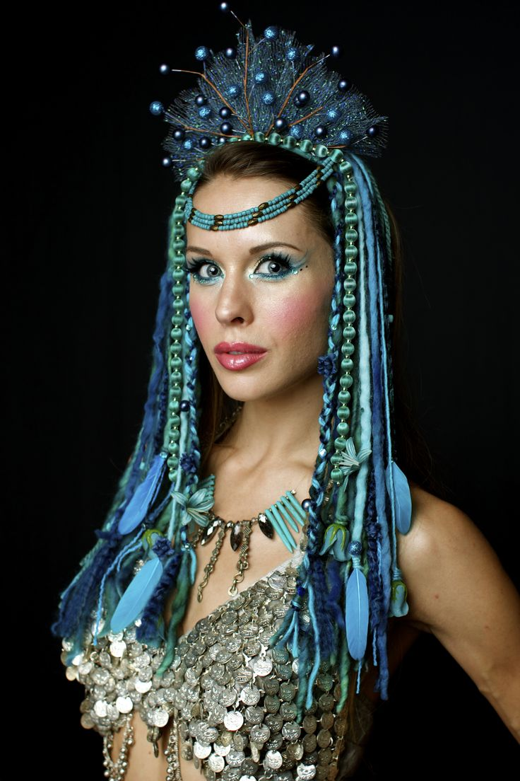 www.etsy.com/shop/lotuscircle lotuscircle, headdress, headdresses, wig, headpiece, dreads, fairy hair, blue locks, teal hair, faery, faerie, woodland, forest dweller, goddess, gypsy, fantasy, mermaid, design, handmade, fairyhair, makeup, fashion, design, burningman, ocean headdress, sea goddess, siren