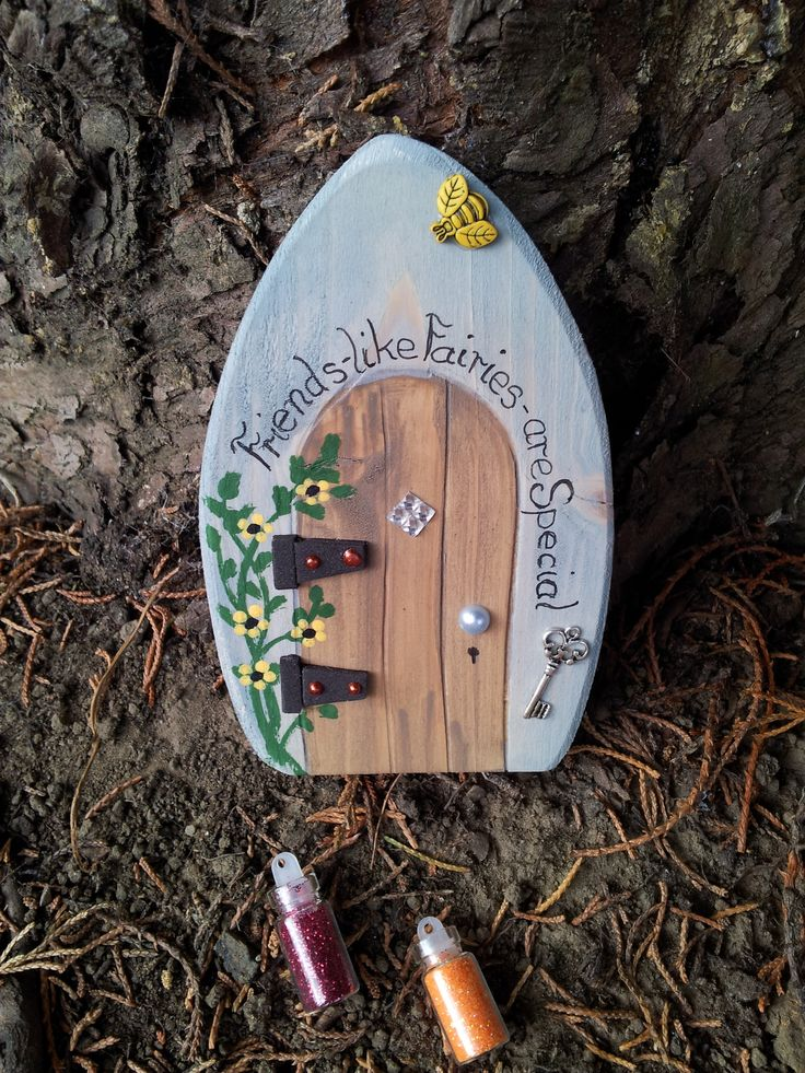 little fairy doors for sale, check us on facebook, if you would like a name on them just ask, sprinkled with fairy dust. https://www.facebook.com/pages/Fairy-Doors/521697827917316