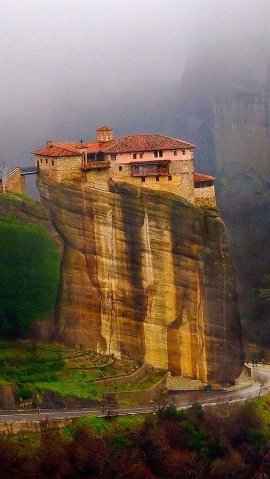 Cliff Top, Meteora, Greece  photo via besttravelphotos