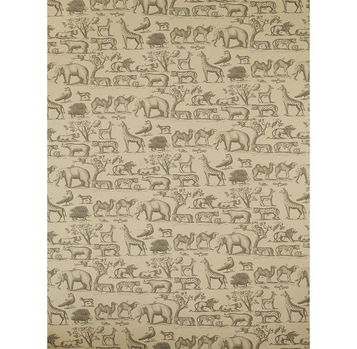 Vintage Painted Jungle Animals Wallpaper - Parchment - 2 Rolls   Kathy Kuo Home
