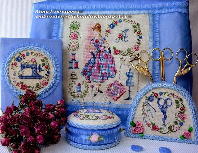 "Embroidery ...  The holiday, which is always with me...: Чехол на швейную машинку ""Je classe. Robe de bal"" ..."