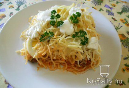 Rakott spagetti Csilla konyhájából