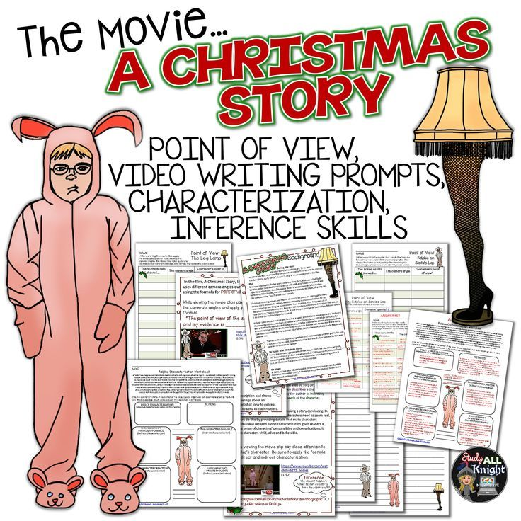 """""""A CHRISTMAS STORY"""" THE MOVIE: POINT OF VIEW, CHARACTER, INFERENCE,  WRITING, VIDEO, NOTES ($)"""