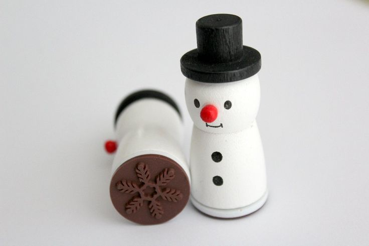 Snowman stamp with a snowflake