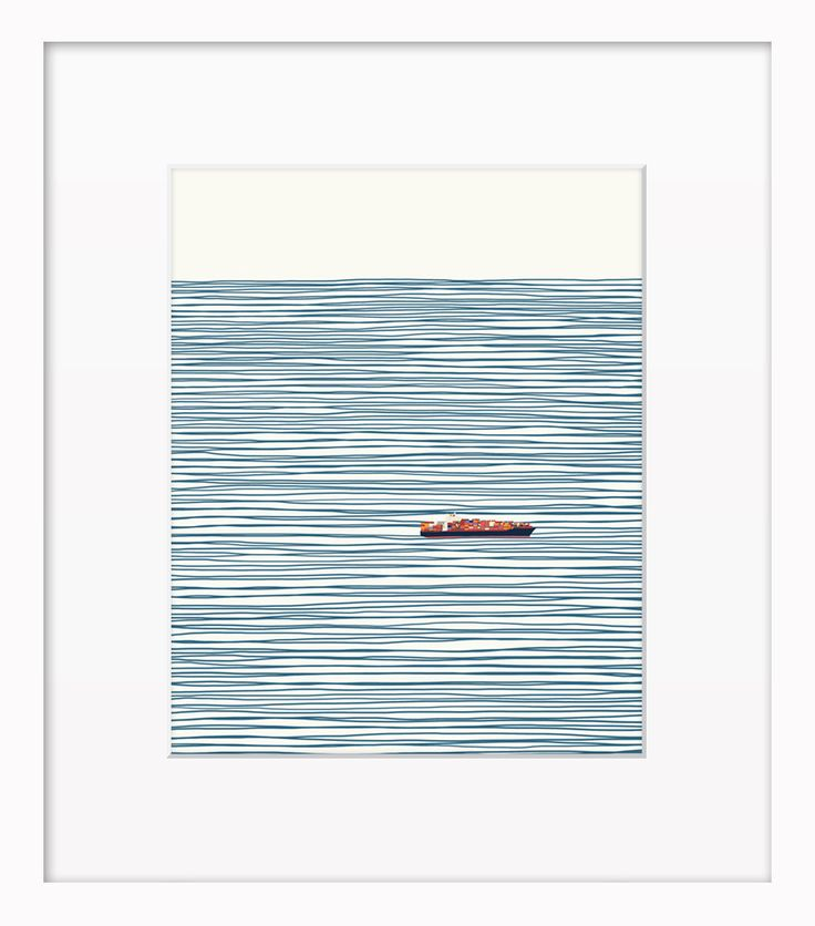 Container Ship by Artfully Walls