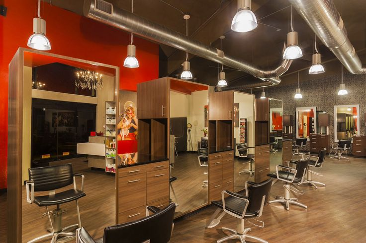 Hair salon decoration idea salon station areas for Photos salon design