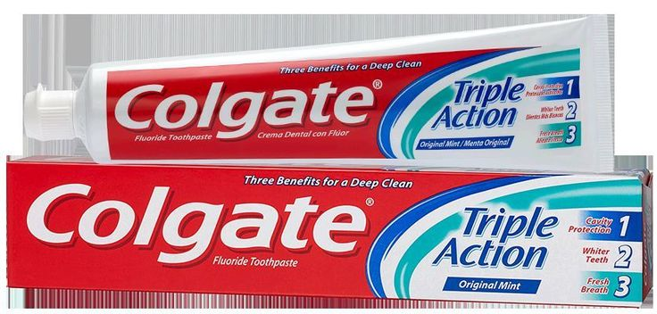 lot 3 dentifrices colgate triple action 100ml neuf