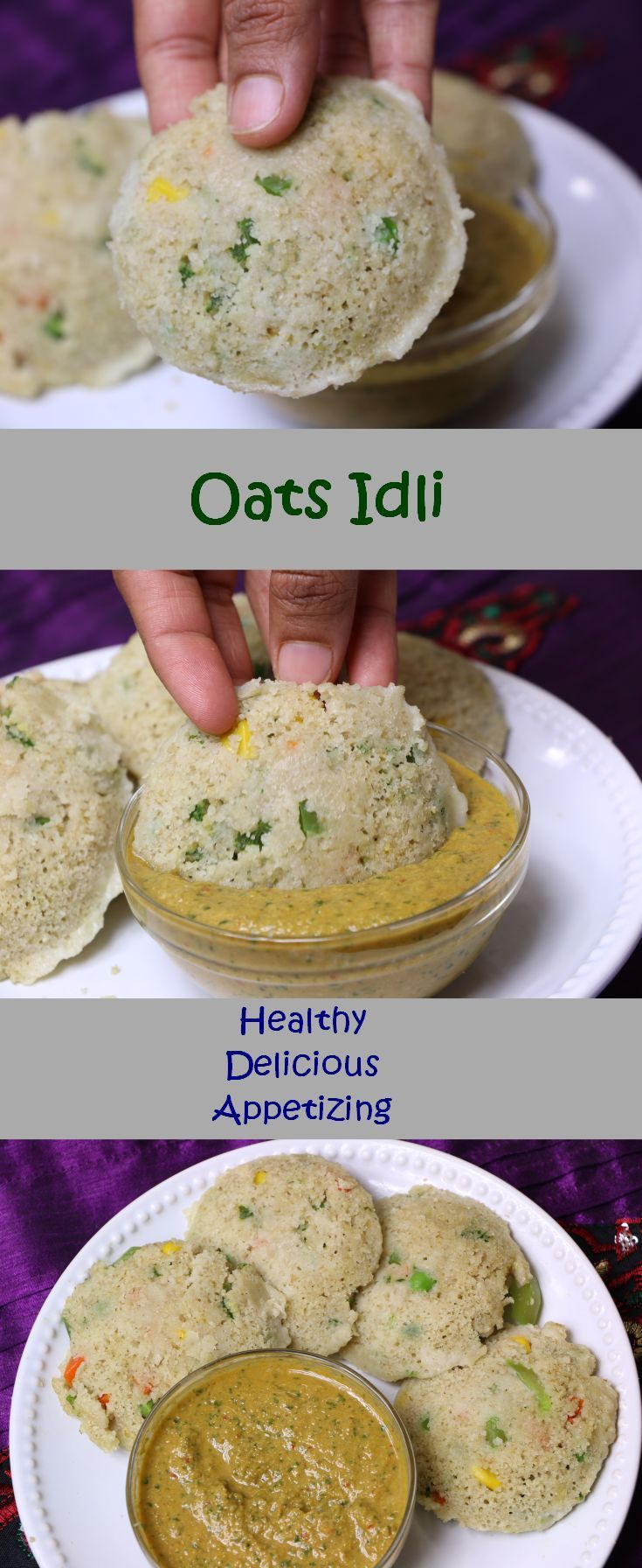 Instant Oats Idli is a healthy Indian Breakfast recipe, which is a very appetizing and easy to make. This is the best way to include oats in your diet. I have added many vegetables like carrots, green peas, beans, bell pepper...... But you can add your choice of vegetables or you can skip this step. My son love this Idli. This is perfect for school lunch box or for breakfast. I like to have it with coconut chutney.