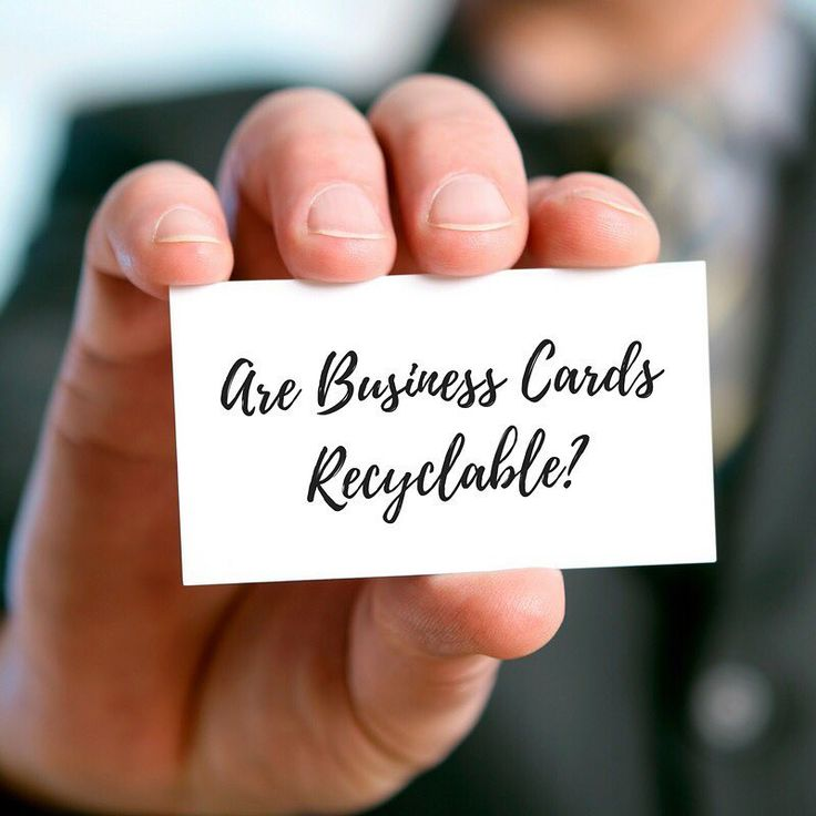 Are business cards recyclable? Click the link in bio to find out. . . . . . . #recycling #recyclable #gogreenatwork #greenatwork #sustainability #ecofriendly #businesscards