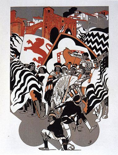 Contrada della Lupa - Siena - Duilio Cambellotti 1932 #TuscanyAgriturismoGiratola