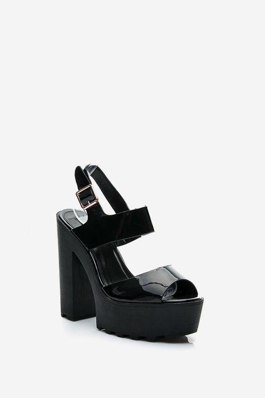 Sandały na platformie Joy czarne