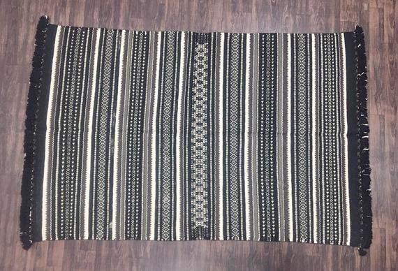 Cotton Area Rug Handmade Jaipur Dhurrie