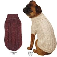 Lurex Cable Knit Dog Sweaters $19.95