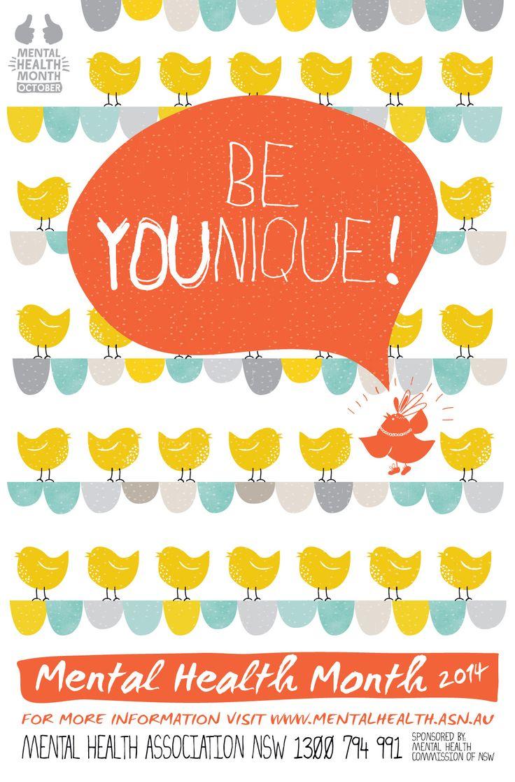 Mental Health Month - Branding & illustration designed by- www.inky.net.au